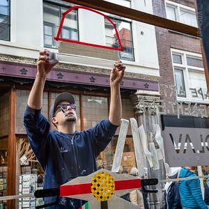 Tape Art van Egbert.EGD bij Olav - Kleine Overstraat