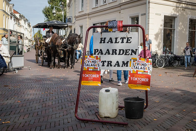 Halte paardentram op de Brink