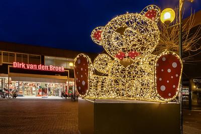 Lichtobject 'Teddy Bear' op het Broederenplein