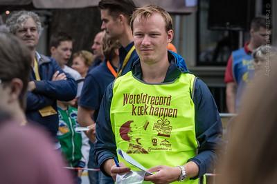 Eén van de vrijwillige stewards