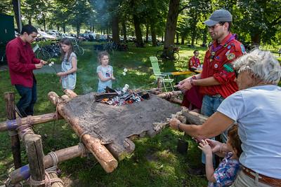 Marshmallows bakken met Scouting Westenenk