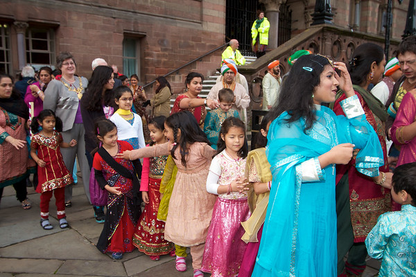 Diwali 2011 in chester  - street party Town Hall