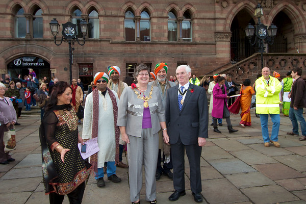 Diwali 2011 in chester Town Hall - Lord Mayor of Chester, Councillor Eleanor Johnson