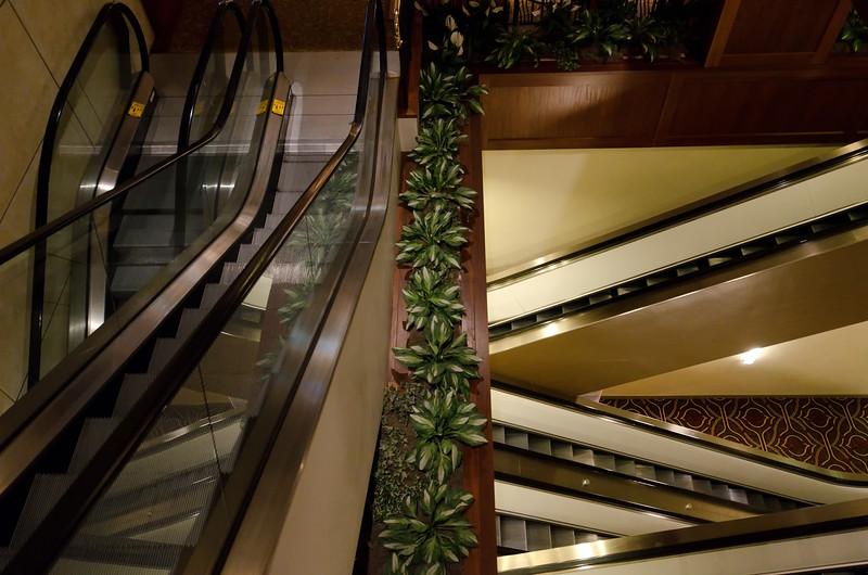 Escher-esque esclators. Say that three times fast.