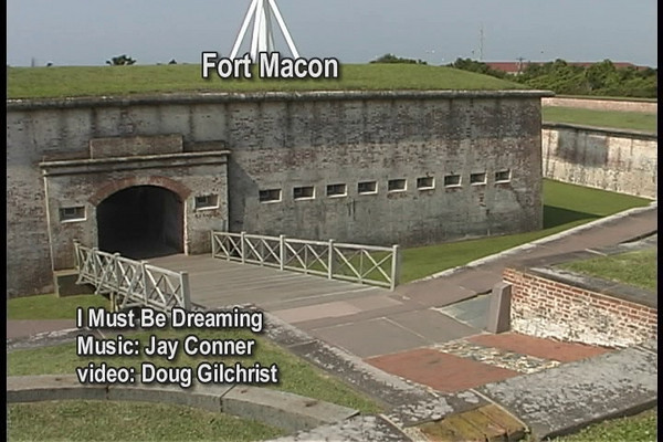 """This video of Fort Macon is laced with black and white images from the past depicting scenes of normal historic activities. The video is set to the music of Jay Conner, """" I Must Be Dreaming""""."""