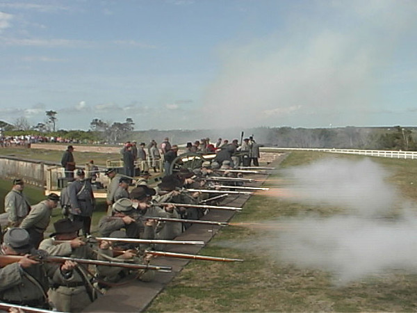 On April 21st, 1862 the union forces captured Fort Macon. One hundred and fifty years later on April 21st, 2012 a re-enactment was staged at Fort Macon. This video is of that re-enactment.