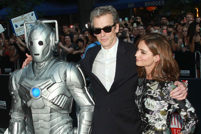 Cyberman, Peter Capaldi, & Jenna Coleman