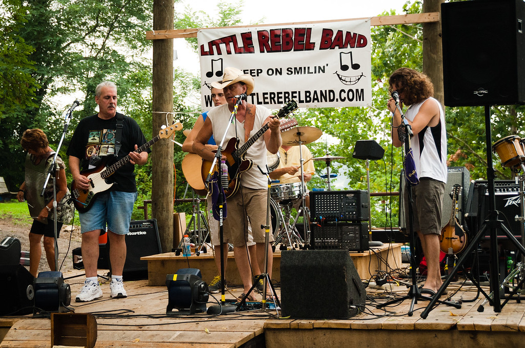 Little Rebel Band playing at the Dog Days Art Fair in Rabbit Hash, KY
