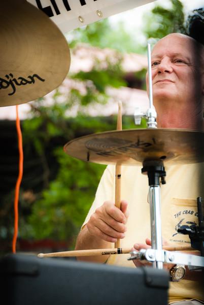 Jack Fehrman, drummer for the Little Rebel Band