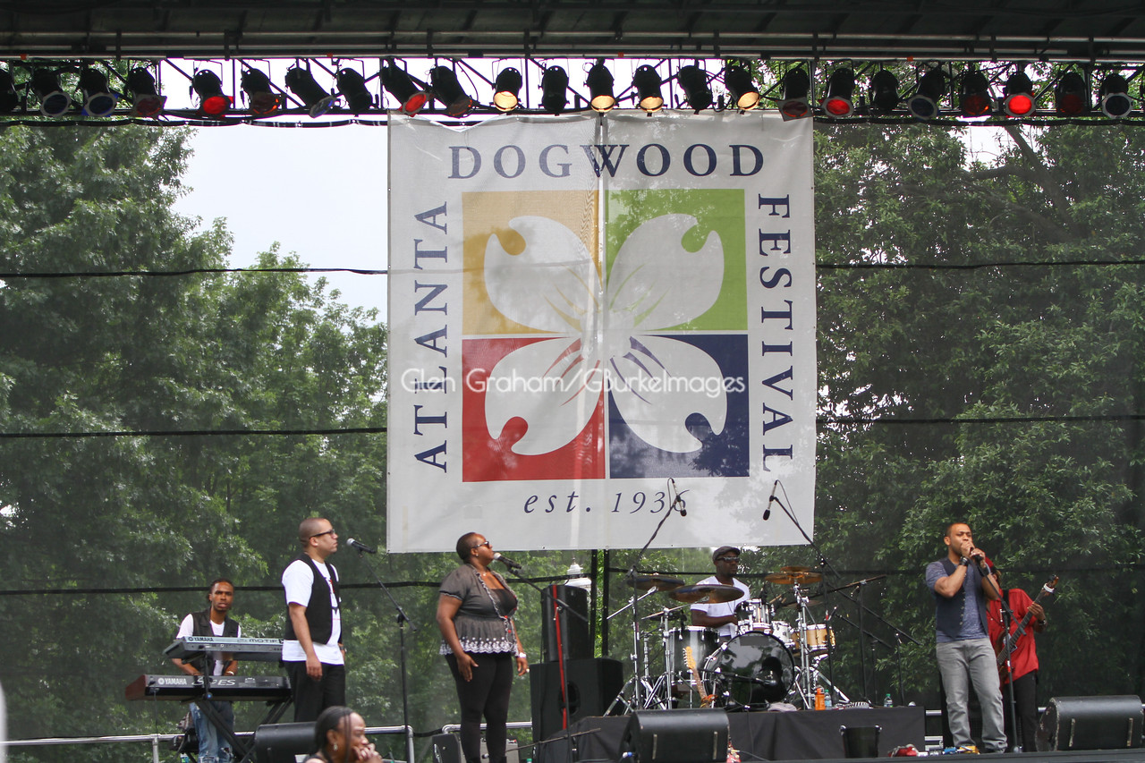 The annual Dogwood Festival in Piedmont Park, Atlanta GA.