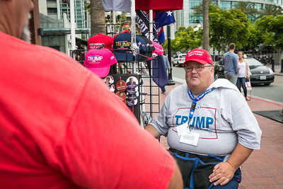 Steve Scanlon  prior to Donald Trump's appearance at San Diego Convention Center May 27, 2016.