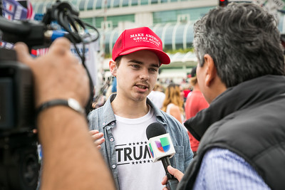 Ryan Wilson from San Clemente prior to Donald Trump's appearance at San Diego Convention Center May 27, 2016.