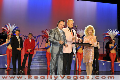 "Photographs of onstage tribute for ""Walk Of Stars"" recipient Donny Lee Moore Co-producer for tribute impersonator show ""American Superstars"" at the ""Theater Of The Stars"" in the Stratosphere Tower at 2000 South Las Vegas Blvd., Las Vegas, NV. Photographs by Mark Bowers, Copyright, All Rights Reserved."