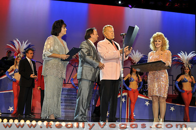 """Photographs of onstage tribute for """"Walk Of Stars"""" recipient Donny Lee Moore Co-producer for tribute impersonator show """"American Superstars"""" at the """"Theater Of The Stars"""" in the Stratosphere Tower at 2000 South Las Vegas Blvd., Las Vegas, NV. Photographs by Mark Bowers, Copyright, All Rights Reserved."""
