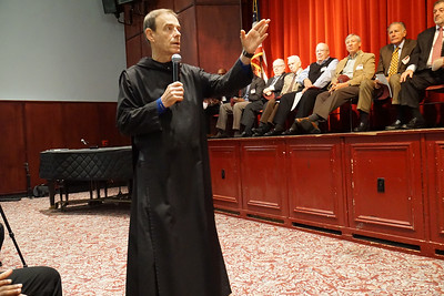 Fr. Edwin was sure to thank the alumni for taking time out of their weekday to spend several hours with us.