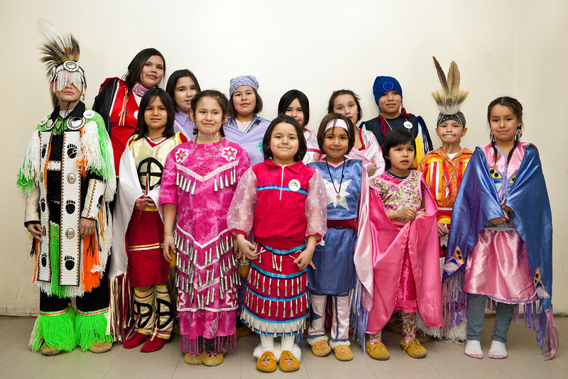 Fort Albany dancers at the Double M Pow-wow Moose Factory 2009 February15th