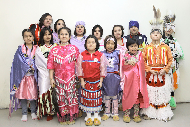 Fort Albany dancers at the Double M Pow-wow Moose Factory 2009 February15th,<br /> DPP initial processing