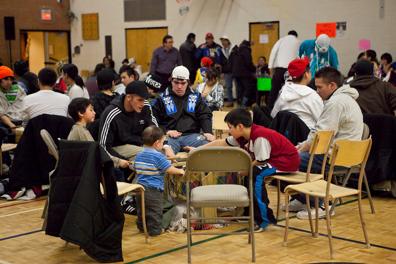 Sixth Annual Double M Pow-wow 2009 February 14, Moosonee<br /> full size file neat image applied