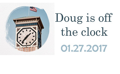Doug is off the clock Retirement Party
