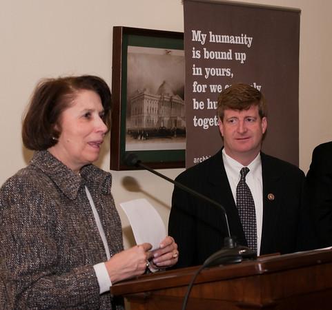 L-R: Madeleine Will (NDSS); Representative Patrick J. Kennedy