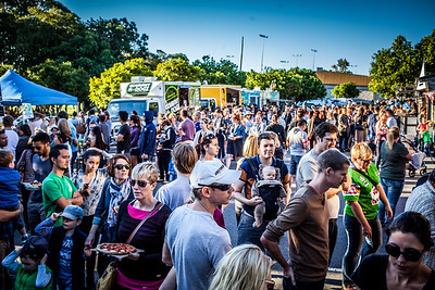 alternate processing, hdr look strong - Crowd - Downey Park Food Trucks, Windsor, Brisbane, AUS; Sunday 26 April 2015. Pics by Des Thureson - http://disci.smugmug.com