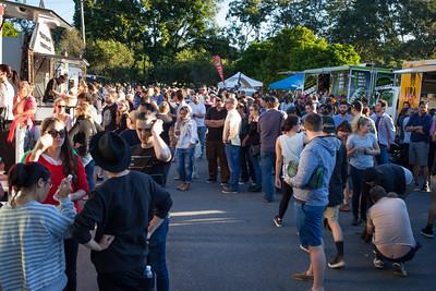 Crowd - Downey Park Food Trucks, Windsor, Brisbane, AUS; Sunday 26 April 2015. Pics by Des Thureson - http://disci.smugmug.com