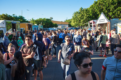Crowd - Downey Park Food Trucks, Windsor, Brisbane, AUS; Sunday 26 April 2015. Pics by Des Thureson - http://disci.smugmug.com