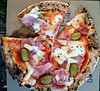 """Prosciutto Pizza with Pineapple & Green Olives - Downey Park Food Trucks, Windsor, Brisbane, AUS; Sunday 26 April 2015. Pics by Des Thureson - <a href=""""http://disci.smugmug.com"""">http://disci.smugmug.com</a>"""