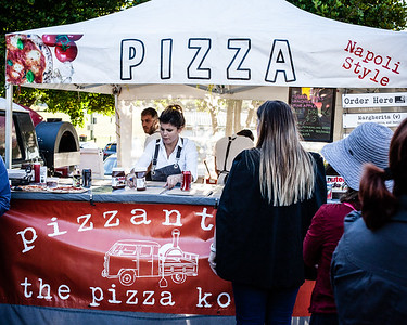Pizzantica - The Pizza Kombi - Downey Park Food Trucks, Windsor, Brisbane, AUS; Sunday 26 April 2015. Pics by Des Thureson - http://disci.smugmug.com - Alternate Processing: Surreal Edgy Effect - Medium