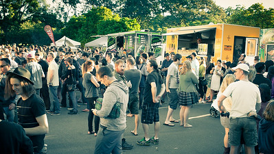 Alternate Processing: That 70's Look - Crowd - Downey Park Food Trucks, Windsor, Brisbane, AUS; Sunday 26 April 2015. Pics by Des Thureson - http://disci.smugmug.com