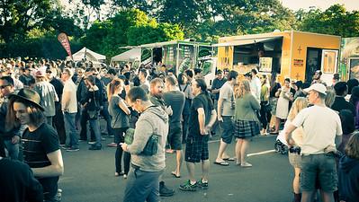 Alternate Processing: That 70's Look - Crowd - Downey Park Food Trucks, Windsor, Brisbane, AUS; Sunday 26 April 2015. Pics by Des Thureson - http://disci.smugmug.com