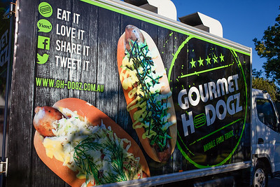 Gourmet Hotdogz - Downey Park Food Trucks, Windsor, Brisbane, AUS; Sunday 26 April 2015. Pics by Des Thureson - http://disci.smugmug.com