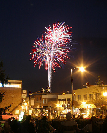 Downtown Valdese Fireworks