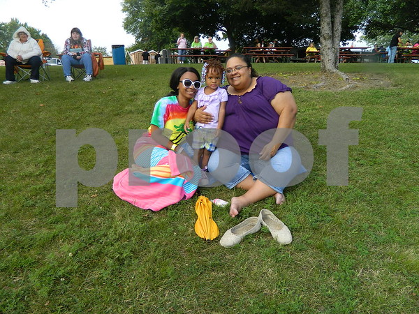 right to left: Ronette Cabbell, Arriya Cabbell, and Mary Cabbell