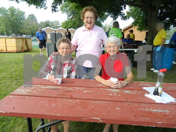 Left to right: Doeis Sanck, Mayine Lage, and Erma Larsen