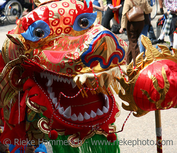 dragon-dance - colorful dragon-head closeup