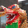 Chinese Dragon Close-up - chinese dragon-dance - performance between the ruins of an ancient industrial coal-mine