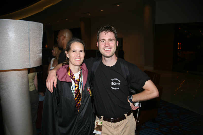 Here's Dianne with our friend (and DragonCon tour guide for the weekend), Lewis