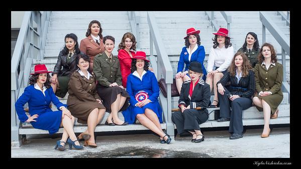 DragonCon 2015 - Captain America and USO Girls
