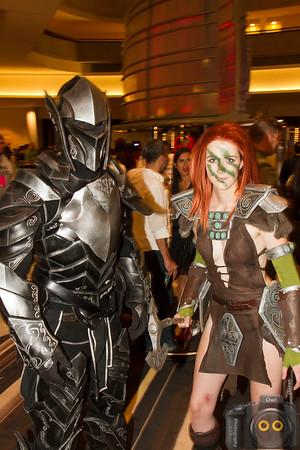 Cosplay Skyrim warriors at DragonCon 2015