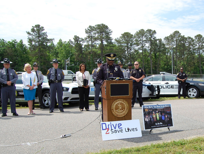 Drive 2 Save Lives Press Conference in Chesapeake, VA
