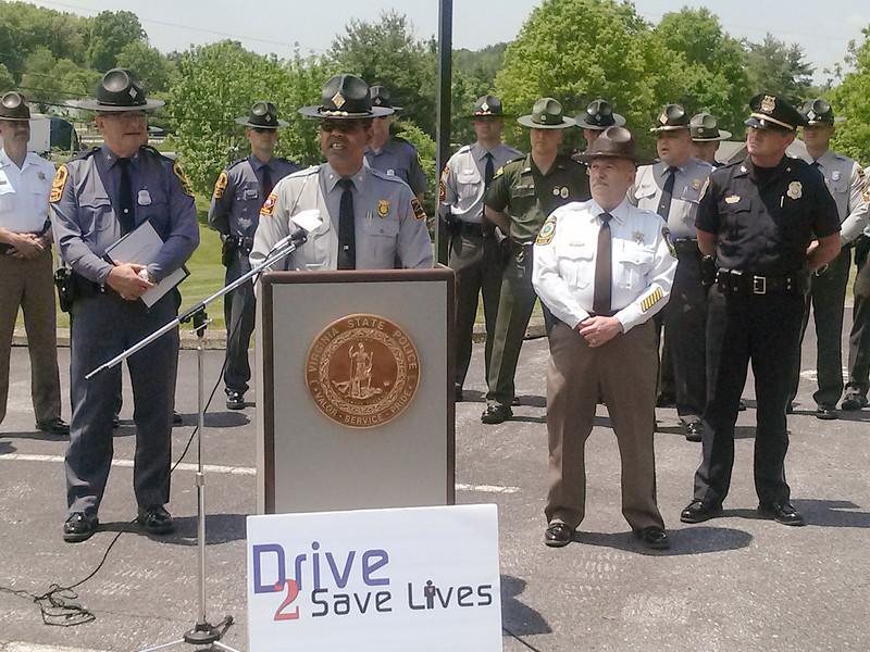 Drive 2 Save Lives Press Conference in Wytheville, VA