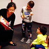 Debbie Blank | The Herald-Tribune<br /> Storytelling in Mandarin was happening in the hallway.