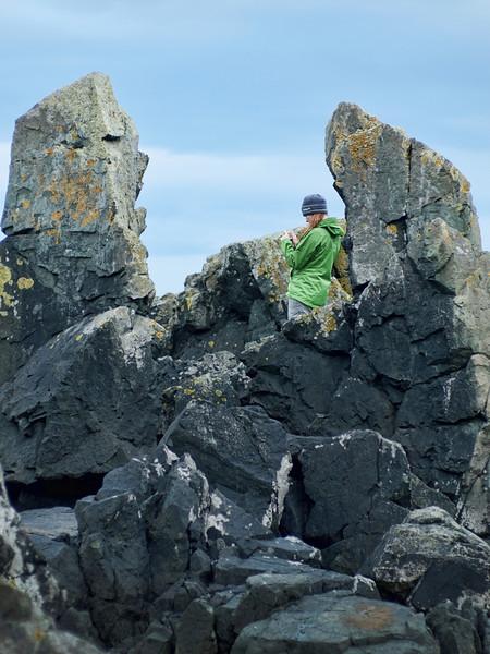 j shooting volcanic rock formation