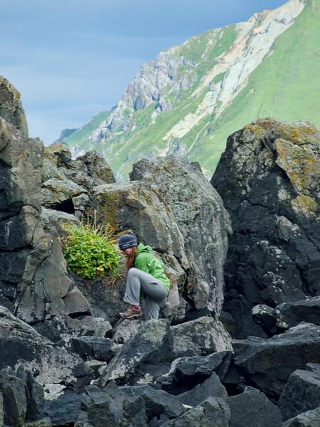 J on rocks, Summer Bay