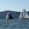 Two skûtsjes on the Tappan Zee.