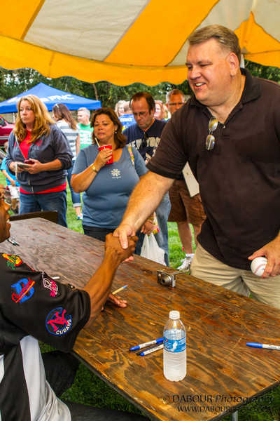 "Dwight ""Doc"" Gooden signs some autographs at the Greenwich Township Community Day 2012."