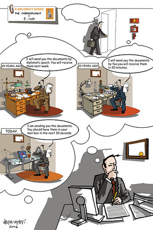 E-Diplomacy Cartoons