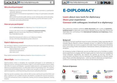 E-Diplomacy leaflet