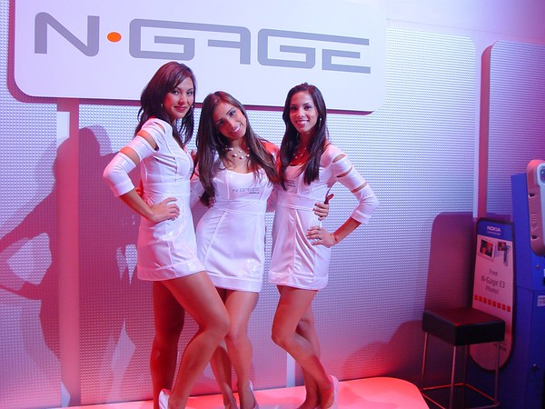 N-Gage Booth babes